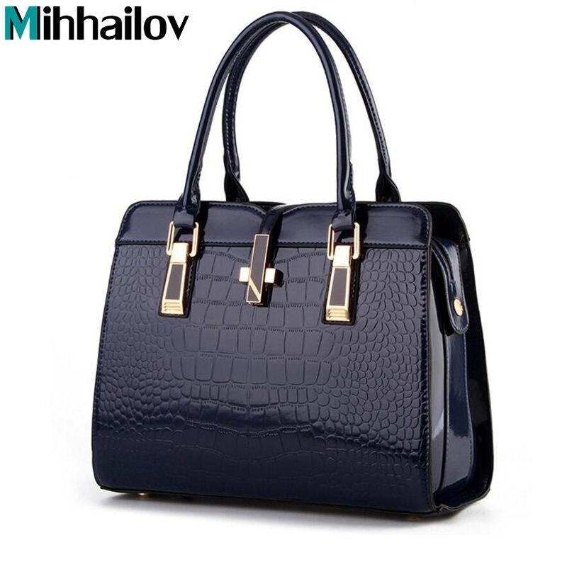 2018 Europe women leather handbags PU handbag leather women bag patent handbag high quality bag brand fashion XS-457