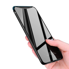 Tempered glass Case for OPPO Find X FindX Case Mirror Surface Glass Back Cover Hard Case for OPPO Find X Soft Bumper Case luxury lifting upper full protection cover for oppo find x with airbag holder camera hard back case for oppo find x case funda