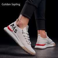 Golden Sapling Men's Sneakers Breathable Running Shoes Men Outdoor White Air Mesh Sport Shoes Men Sneakers Summer Trail Sneaker
