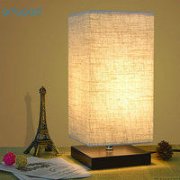 Artpad Japanese Tatami Style Simple Table Lamps With Fabric Lamp Shade E27 Study Bedside Standing Lamp