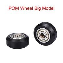 10 pcs CNC rulmanlar ile Openbuilds plastik tekerlek POM büyük modelleri pasif yuvarlak tekerlek avara kasnak dişli perlin teker...