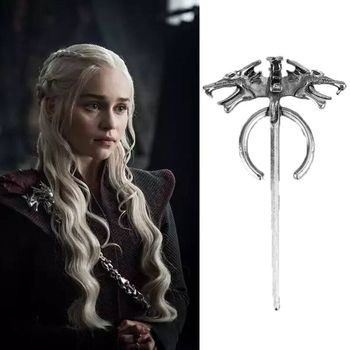 Game of Thrones Daenerys Targaryen Mother Dragon Badge Vintage Wolf Pin Men Brooch Women Female