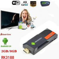 New EU MK809 IV Android 4.4 TV Dongle PC 2G/8G TV Stick Andrond AirPlay DLNA with 4K media player TV stick PK