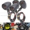 1 pcs universal motos lâmpada bala turn signal indicator light para harley yamaha honda kawasaki cruiser chopper cafe racer