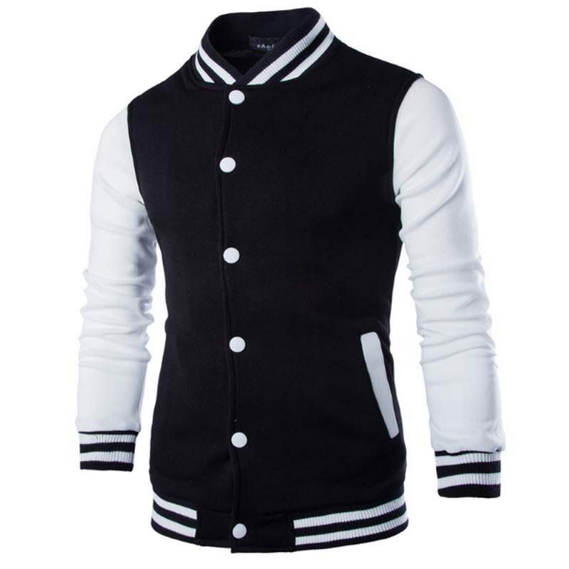 New Men/Boy Baseball Jacket Men 2019 Fashion Design Wine Red Mens Slim Fit College Varsity Jacket Men Brand Stylish Veste Homme1