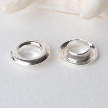 1 peça, sólido 925 prata esterlina ilhós rebites para grandes contas de furo, jóias diy prata descobertas/componentes