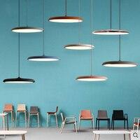 Nordic simple pendant lamp iron paint creative UFO personality LED macarons color single head bedside lighting lamp