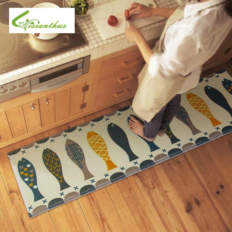 US $10.04 49% OFF 45*120 cm Moderne Stil Saugfähige Rutschfeste Memory Foam  Teppich Moderne Wohnzimmer Küche Matte Fußmatten Außen Teppiche und ...
