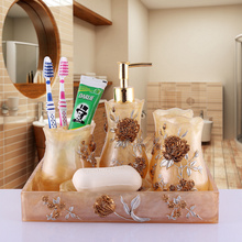 Wash set bathroom suite supplies five pieces of fashion quality gift box