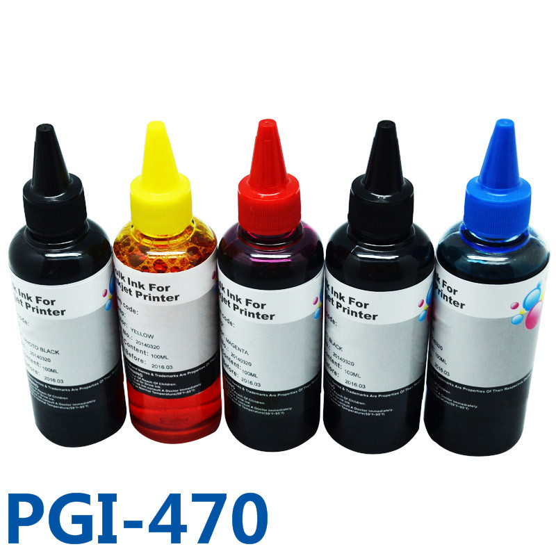 500ml PGI470 CLI471 Print Smoothly Dye Bulk Ink Refill Kits Ciss Ink For Canon PIXMA MG6840