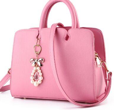 J Bg Pink leather font b bags b font font b handbags b font font b