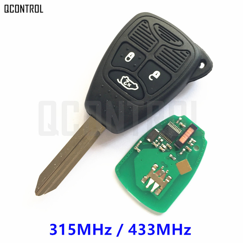 QCONTROL Remote Key 3 Buttons for Chrysler 200 300 Aspen Pacifica PT Cruiser Sebring Town & Country Keyless Entry Transmitter