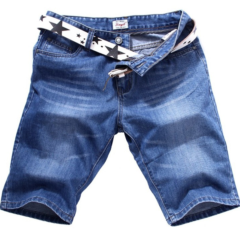 SINYIT 2017 Casual Hip Hop Male Joggers Clothing Exercise Jeans Shorts Men Washed Denim Summer Baggy Loose Half Knee Plus Size