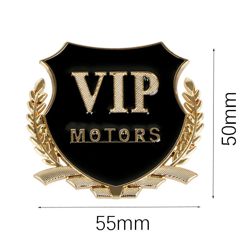 1pcs 3D Sticker Auto VIP Emblem Decal For Opel Renault Kia Honda Toyota Suzuki BMW Audi Peugeot Motors VIP Badge Car Styling
