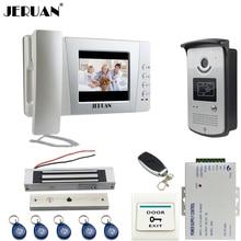 JERUAN Home 4.3 inch Video Door Phone Entry intercom System Kit +700TVL RFID Waterproof IR Camera + 180 KG Magnetic lock