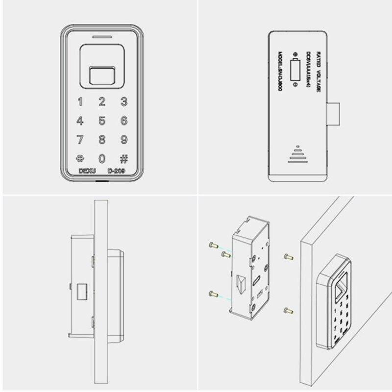 Serrure d'empreinte digitale armoire numérique tiroir armoire clapier casier électronique serrure sans clé XXM8