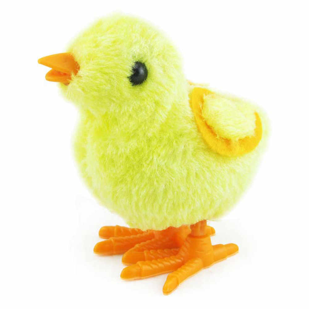 Toys for children 1pcs  Clockwork Wind UpHopping Funny Bird Toy 10cm Christmas Chick Animal Toy for Kids Gift