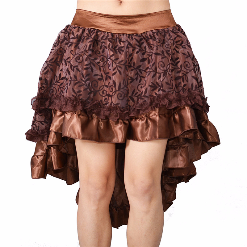 Amiable Sk64 Steampunk Gothic Large Pendulum Women Multi Layered High Low Outfits Court Corset Collocate Tail-swinging Mesh Skirt Women's Clothing