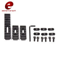 Element Airsoft Tactical Rail Set For MOE Handguard Picatinny Rail Accessories Black EX225