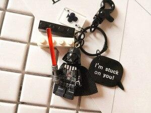 Милый брелок для ключей «Звездные войны», рыцарские фигуры джедаев, кукла, конструктор, брелок для ключей, Подвеска для женщин, сумка, подвес...