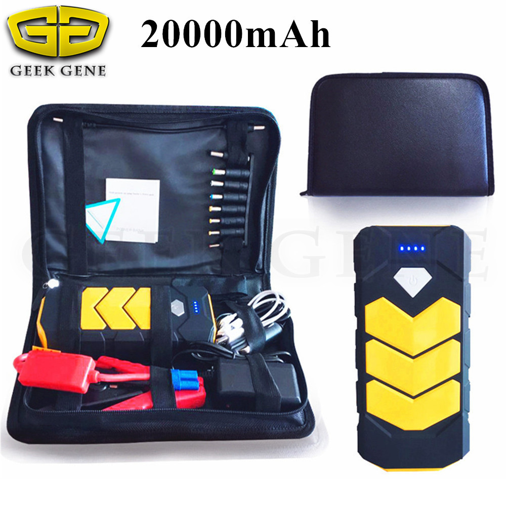 2018 Portable Petrol Diesel Jump Starter 12V Car Charger For Car Battery Booster Buster Starting Device 20000mAh Auto Power Bank car jump starter 69900mah portable power bank 12v charger for car battery petrol 6 0l diesel 4 0l starting device booster buster