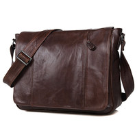 Nesitu High Quality Coffee First Layer Genuine Leather Cross Body Men Messenger Bags Real Skin Shoulder Bags #M7338