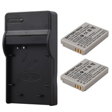 2pcs NB-5L NB 5L NB5L Battery + Charger For Canon SX200is SX210IS SX220HS SX230HS CB-2LXE PowerShot S100 S110 SD950 SD970 SD990