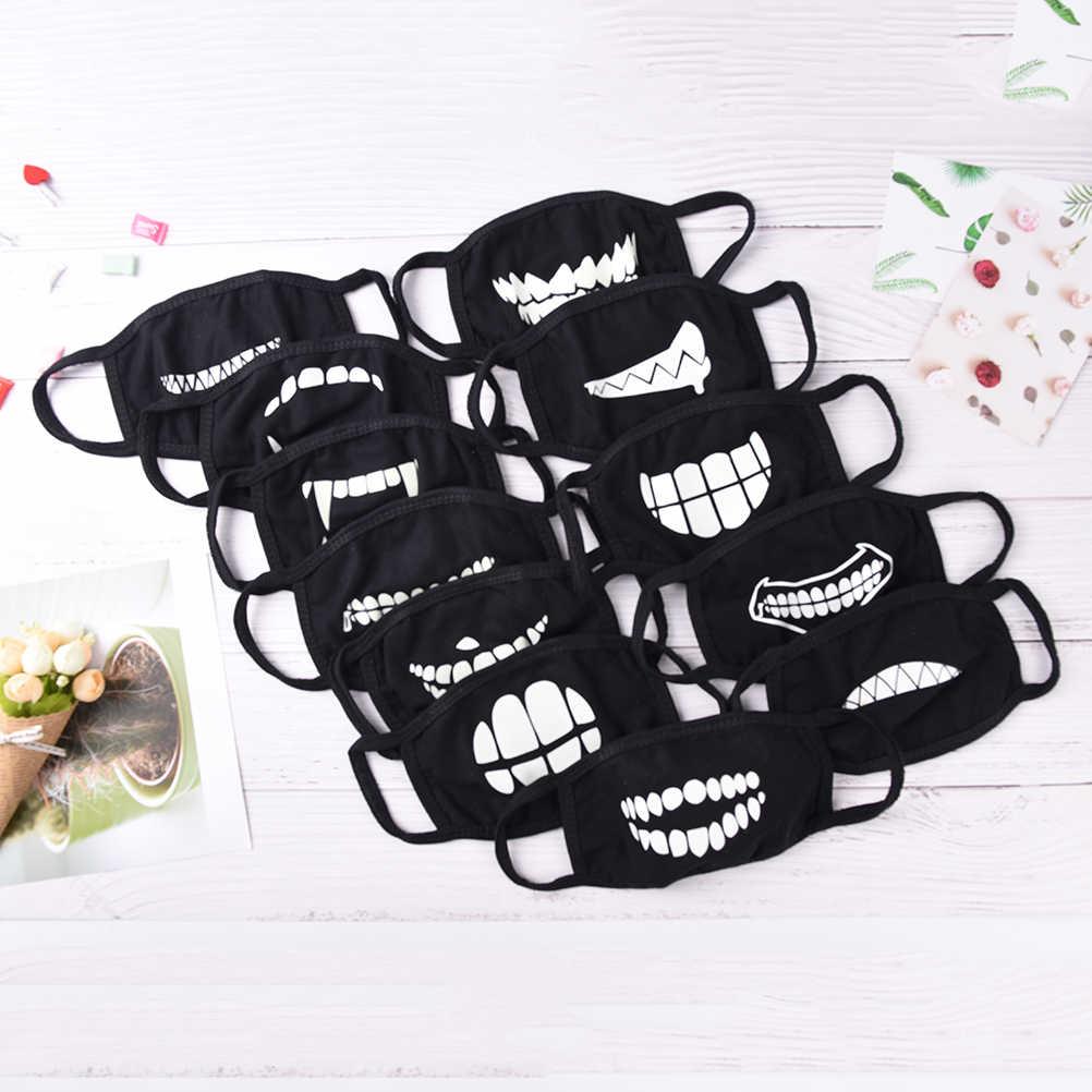 18 estilo máscara de boca luz no escuro anti poeira manter quente fresco unisex máscara preta noctilucent algodão máscara facial