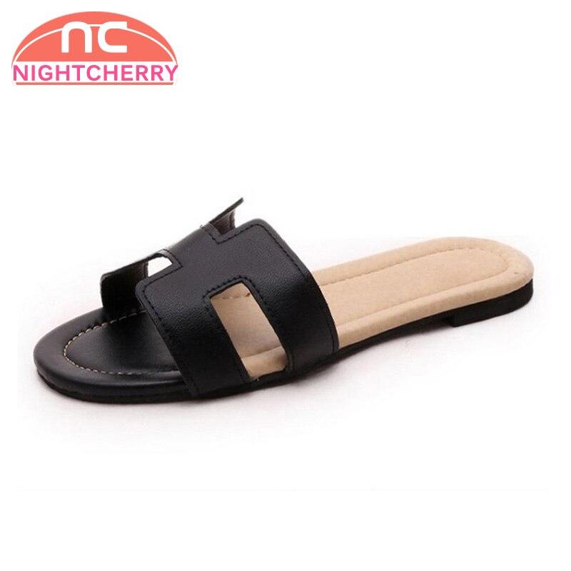 NIGHTCHERRY Lady Flat Sandals Female Shoes Women Gladiator Sandals Slippers Shoes Flip Flops Ladies Footwear Size 35-40 W0142
