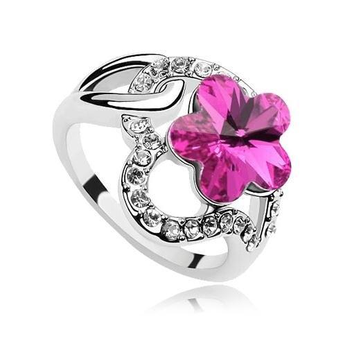 12 шт./партия, смешанные цвета,, модные ювелирные изделия с хрустальным цветком кольцо на палец с камнями, Новое поступление
