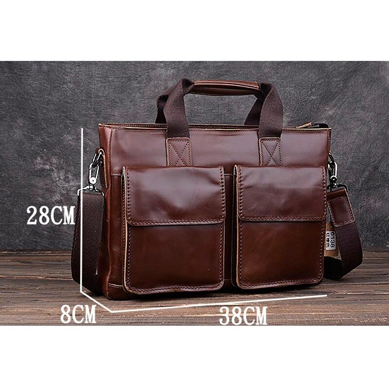 1e6f73f39e AETOO Crazy horse leather men bag cross-section handbag retro leather  shoulder Messenger bag business briefcase trumpet