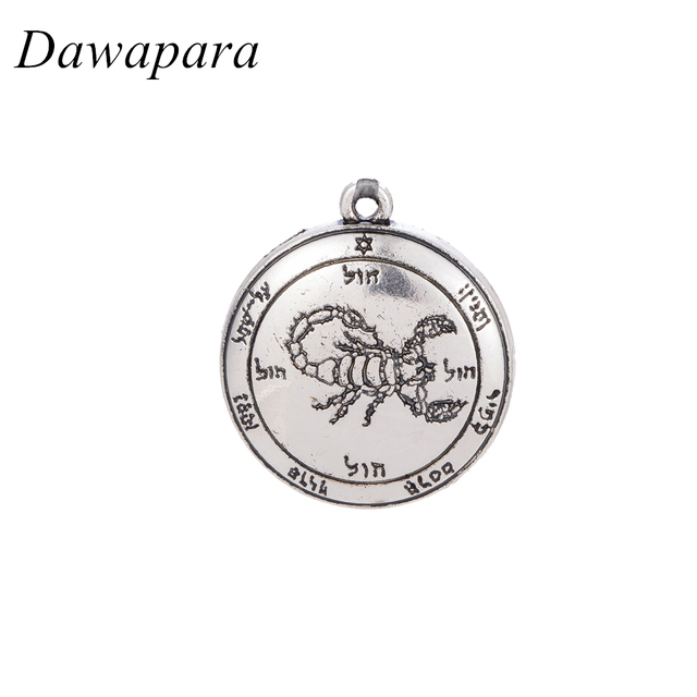 Dawapara scorpion coin pendants jewelry making antique silver diy dawapara scorpion coin pendants jewelry making antique silver diy charms for necklaces men and women jewellery mozeypictures Images