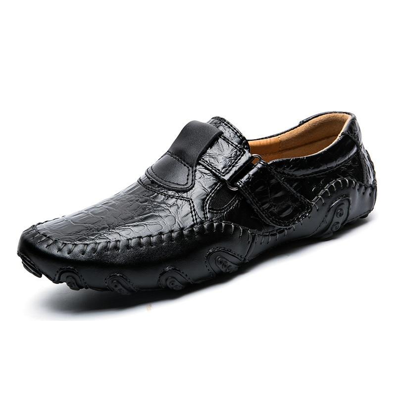 brown En Respirant 65 Cuir 28 Main Chaussures Glissement Hommes Qualité Mocassins Black Casual Sur Haute Alligator 8OwXnPk0