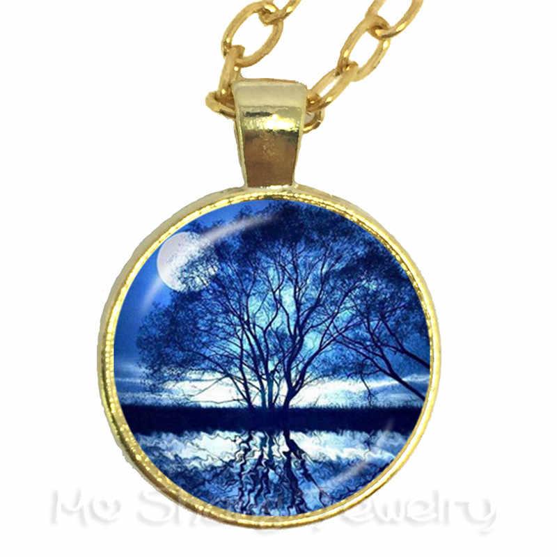 2018 Cabala ماندالا قلادة شجرة ورد الحياة الزجاج كابوشون سترة سلسلة للرجال النساء مجوهرات الإبداعية هدية
