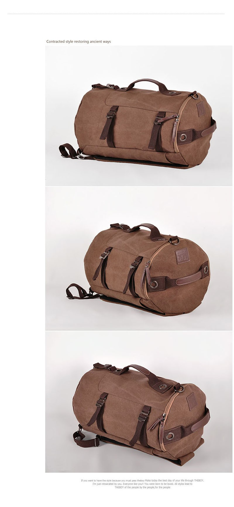 Men's Multi-Functional Backpack Vintage Shoulder Bag High Quality Canvas Male Bagpack Rucksack Travel Luggage for Weekend 33