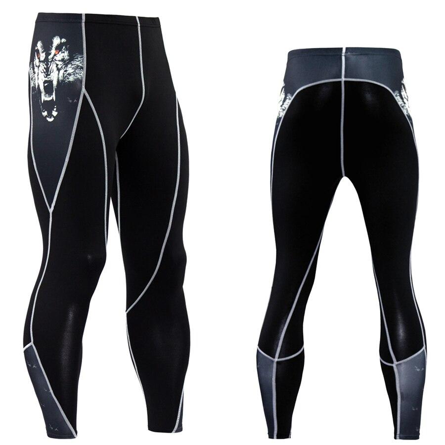 Pantaloni di compressione Fitness skinny uomo di alta qualità - Abbigliamento da uomo - Fotografia 5