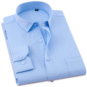 a0ad11e1 LANGMENG Slim Fit Casual Social white Shirt