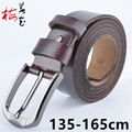 135cm -160cm Long Men'S Genuine Leather Big Yards Belt Classic Casual Designer Pin Button Plus Size Belts Male Fat People Strap