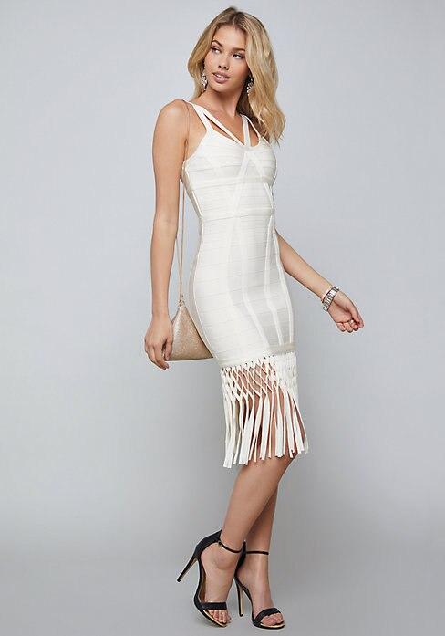 Tenue Gland Sexy De Qualité Femmes Blanc Élégante Robe Lacée Fête Supérieure Rayonne AZABzTW