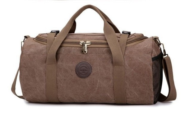 The new tide male bag large capacity canvas hand baggage bag free shipping multi-purpose high-quality  leisure package