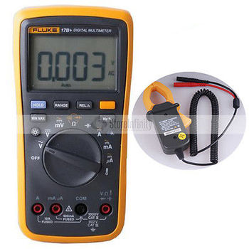 Fluke 17B + PLUS Digital Multimeter (Backlit) + Temp Sonde AC WANDLER Tester DE Verschiffen