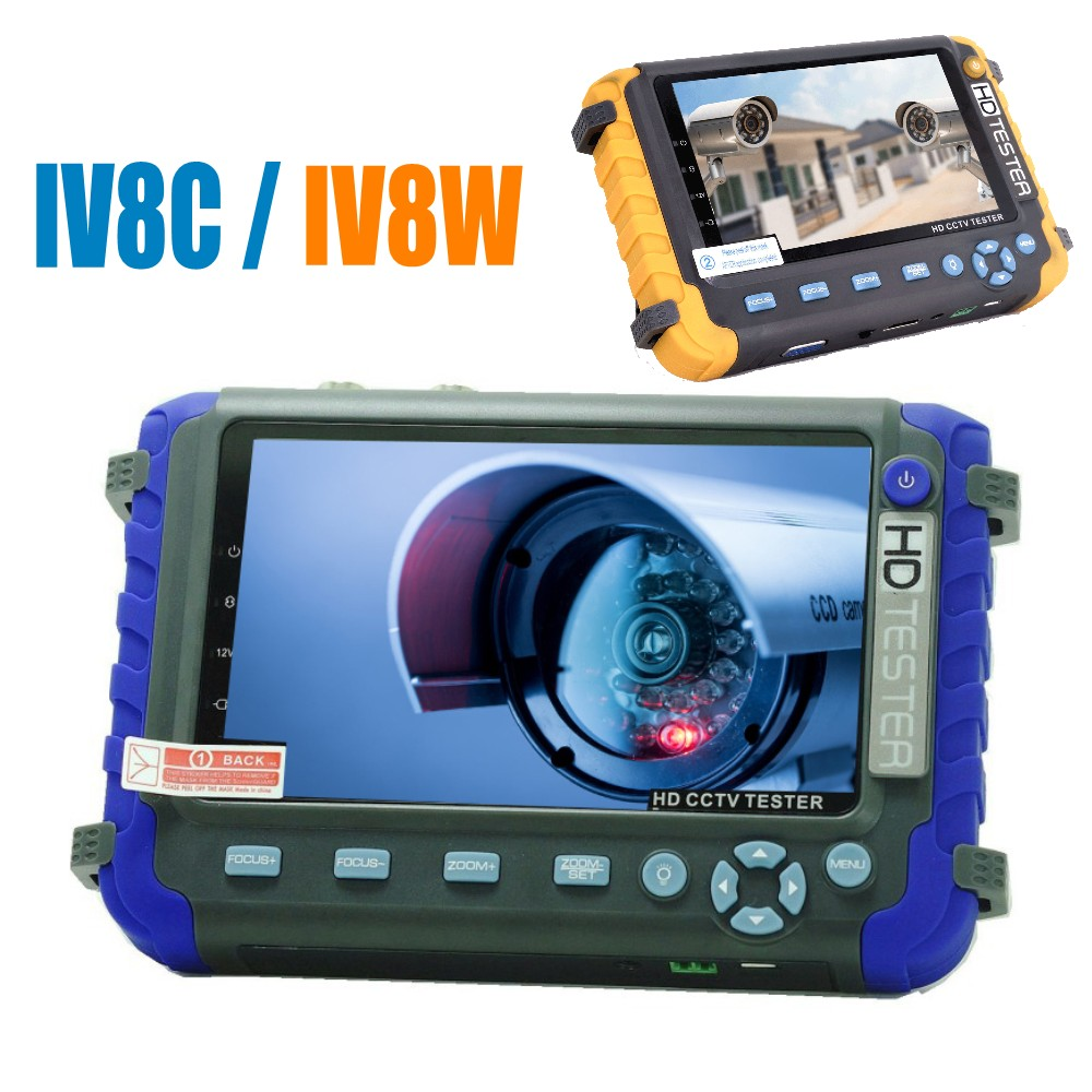 DHL Free Portable 4 In 1 AHD TVI CVI CVBS CCTV Camera Tester Monitor IV8W IV8C Support PTZ Controller UTP Cable Test Audio Test