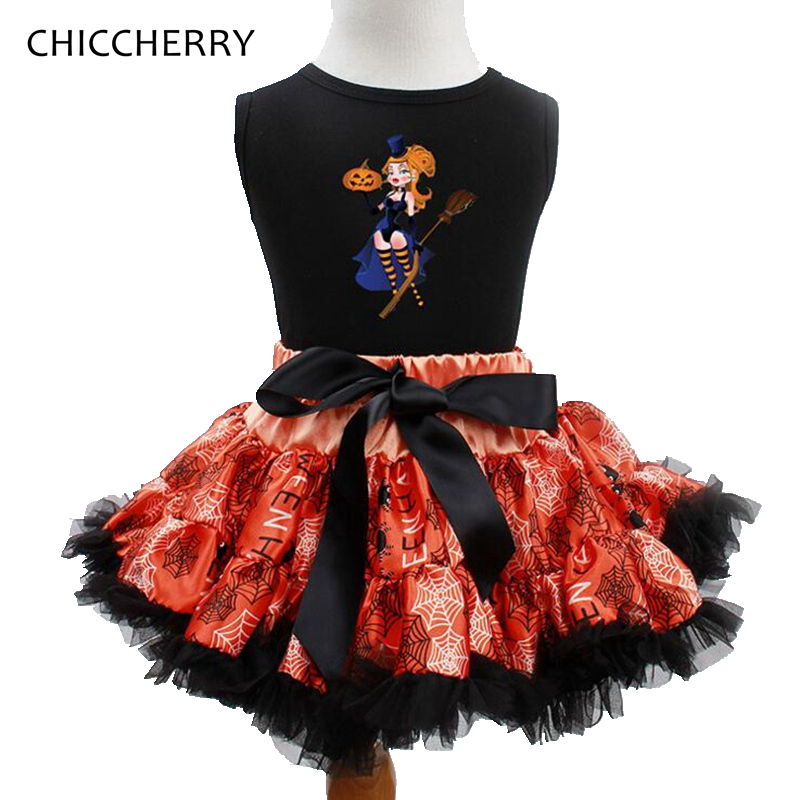 Cute Little Witches Kids Halloween Costumes For Girls Clothes Tops + Lace Tutu Skirts Toddler Girl Clothing Sets Infant Outfits adidas x pharrell little kids superstar supercolor