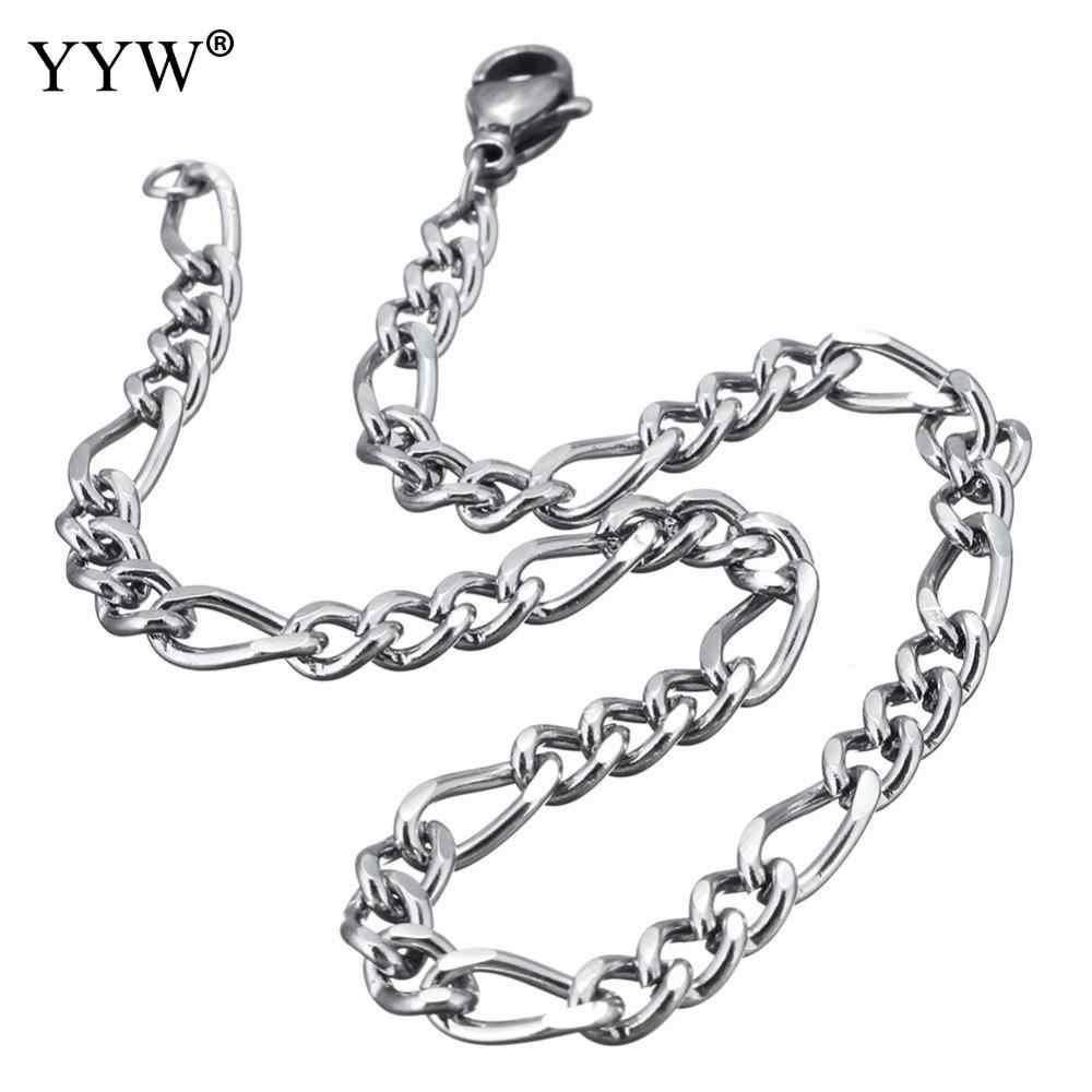 2018 heren armbanden & Bangles Roestvrij Staal Pols Band Hand Chain Mode-sieraden Zilver Kleur Armband Voor Mannen Gift pulseira