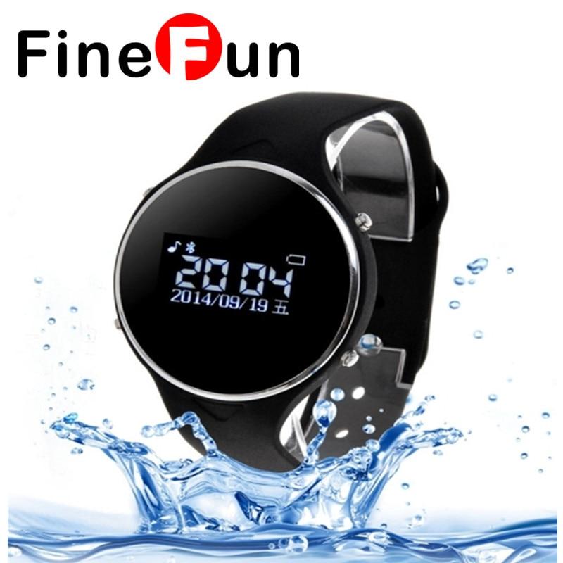 ФОТО FineFun Smart Watch Uu Uwatch Waterproof Wrist Watch for Anti-lost For IOS Android SmartPhone Passameter Outdoor Sport Call
