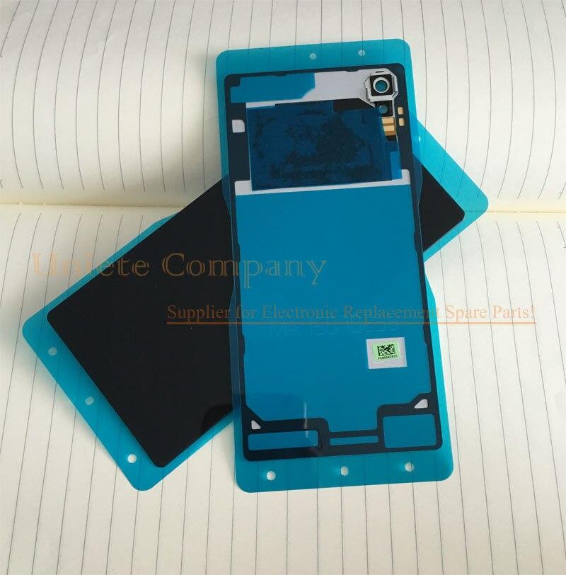 Original for Sony Xperia M4 Aqua Rear Back Cover Glass Battery Door Housing W NFC Chip