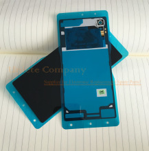 Original for Sony Xperia M4 Aqua Rear Back Cover Glass Battery Door Housing W/ NFC Chip Antenna + Camera Lens + Sticker