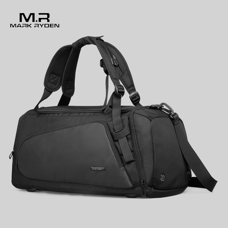 Mark Ryden Men's Black Handbag Travel Bag Waterproof Large Capacity Travel Duffle Multifunction Casual Crossbody Bags