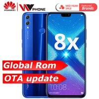 Глобальный Встроенная память Huawe Honor 8X6,5 ''полный экран ОТА обновление смартфон не 8x max мобильного телефона Android 8,1 Восьмиядерный отпечаток па