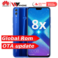 Global Rom Huawe Honor 8X 6.5'' full Screen OTA update Smartphone not 8x max Mobile phone Android 8.1 Octa Core fingerprint ID